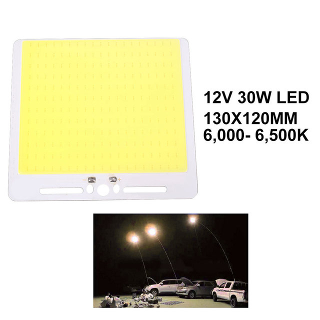 1 PC 12 V 30 W Panel Light LED Strip Tongkol Chip Outdoor Supply DIY Rumah Lampu 130X120 MM Perlengkapan Pencahayaan