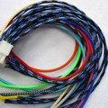 20 m Cable Mangas 3mm 3 alambre Cifrado MASCOTA malla de piel de Serpiente Manguito Del Cable de alambre de nylon de malla choque para cable de alambre de La Protección conjuntos