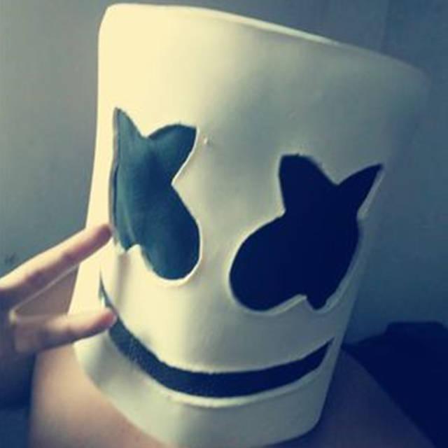 Online Shop Marshmello Mask Cosplay Helmet Latex Full Head Dj Masks