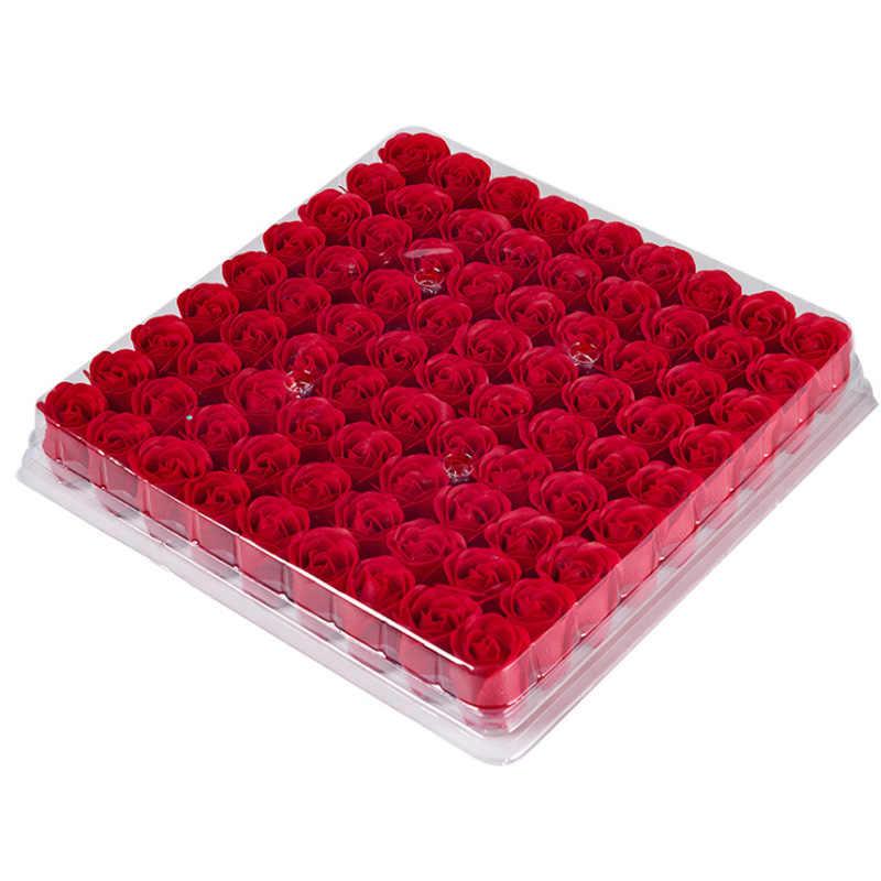 81 Potong Mawar Bunga Sabun Kepala Tiga Lapisan Tidak Ada Dasar Rose Sabun Bunga Kepala Bunga Abadi Simulasi Mawar Multi -Warna