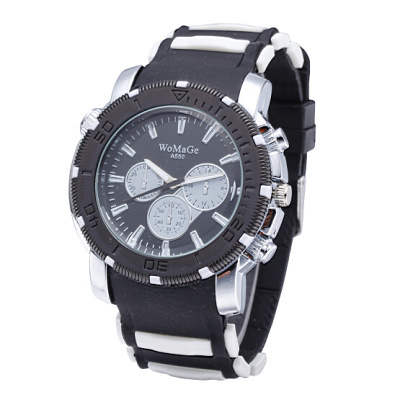 Outdoor Sport Unisex Watches Men Women Watches Quartz watches Rubber Strap Three Little Dial Clock  Zegarek Damski(China)