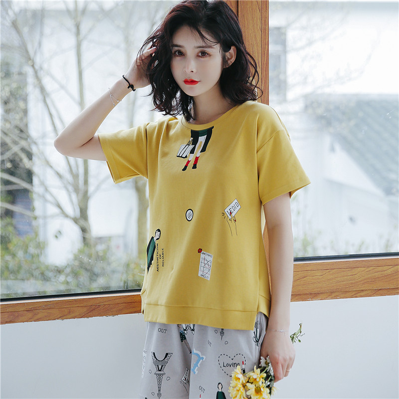 JRMISSLI 100% Cotton Pajamas sets women M-2XL Sleepwear Pyjamas Women Feminina Sleepwear Home Clothing ...