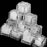 12pcs LED Ice Cubes Colorful Change Water Sensor Light Circulate Flashing LED Lights For Bar Wedding