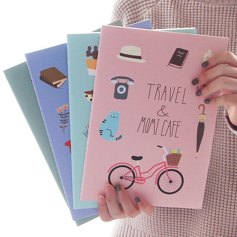 2017 Kawaii Notebook Korea Stationery Cartoon Cute Cat Flora Notebook School Supplies B5 Journal Diary Student Notepad