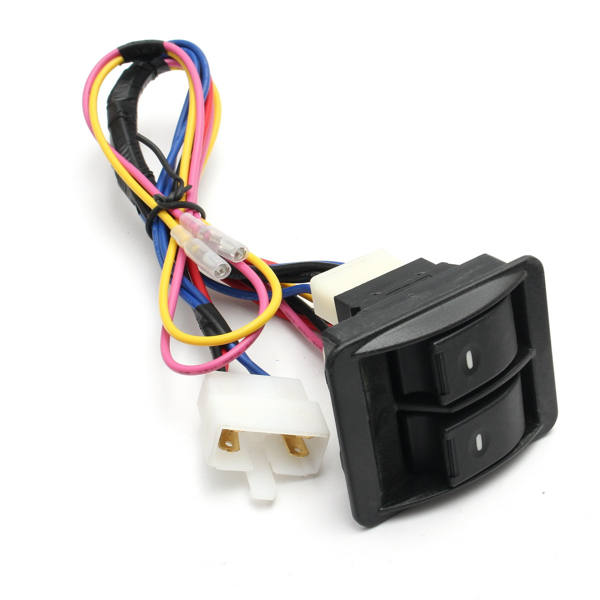 small resolution of universal 12v power window glass lock rocker lift switch wiring harness kits for chevrolet ford hyundai nissan toyota vw in car switches relays from
