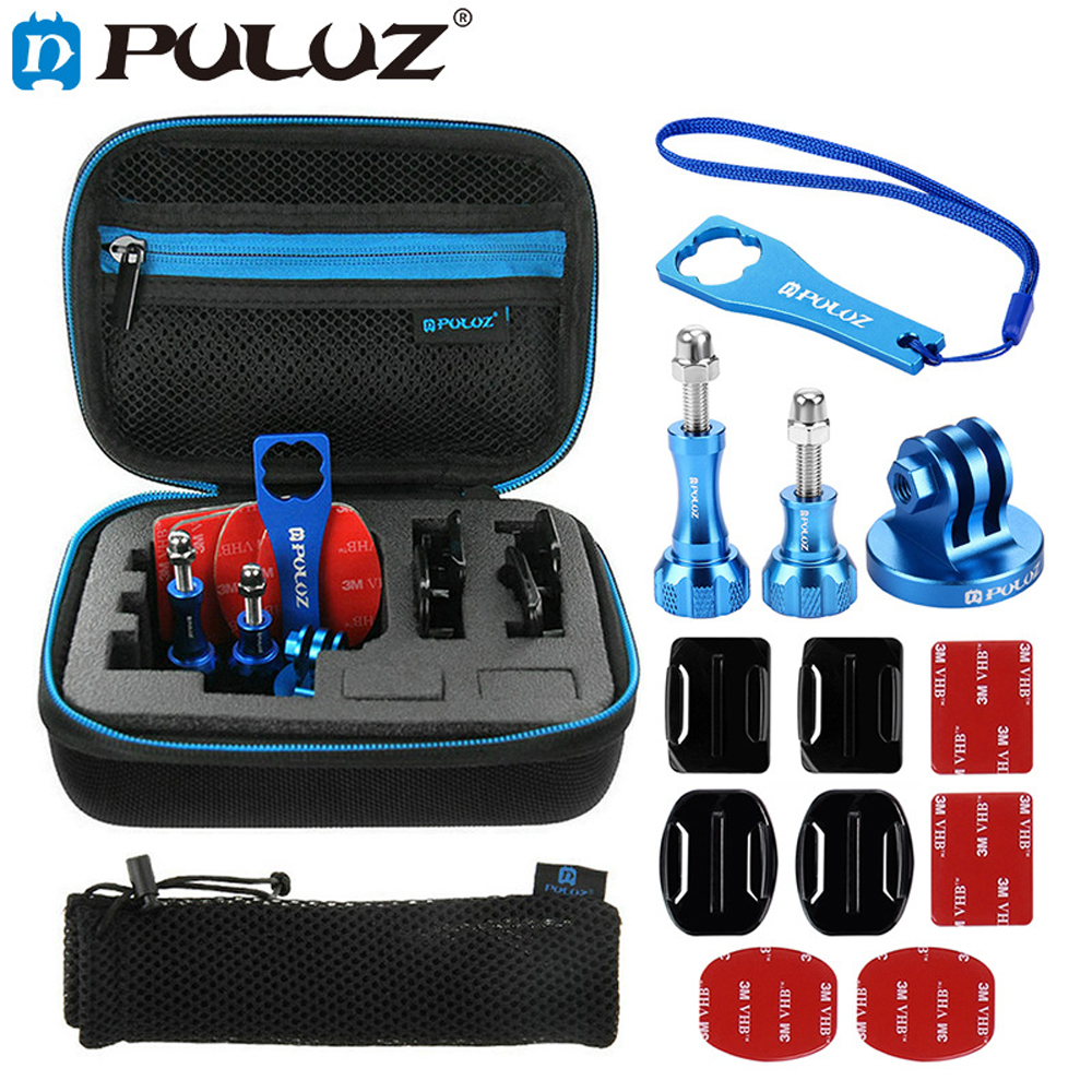 PULUZ 13 in 1 CNC Metal Accessories Combo Kits for GoPro HERO6 5 4 Session 4 3 + 3 for Xiaoyi 4k Action Camera for EKEN H9R