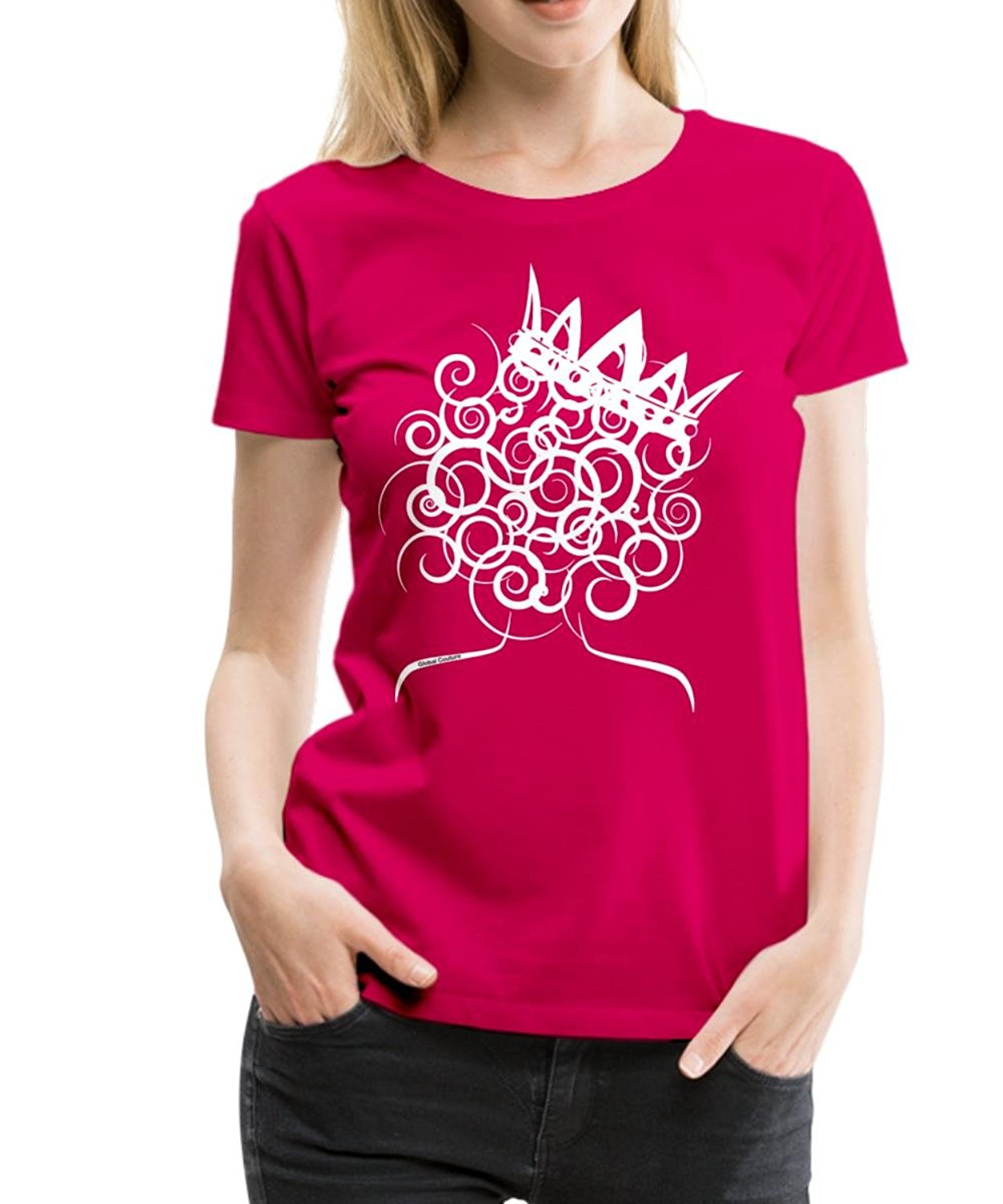 Natural Hair Curly Queen Global Couture Mens Premium T-Shirt