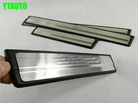 Door Sill Plate Scuff Plate Threshold For Outlander 2013 2014 2015 Stainless Steel Free Shipping Auto