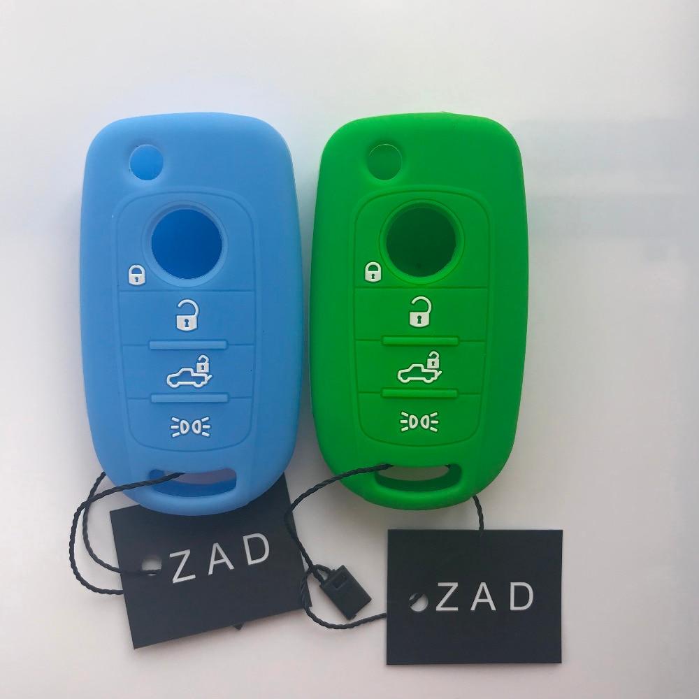 ZAD chiave Del Silicone di Caso Della Copertura di Protezione del supporto della pelle per FIAT TIPO Borsette Toro 500X nuovo grazie remoto senza chiave 4 pulsante accessori