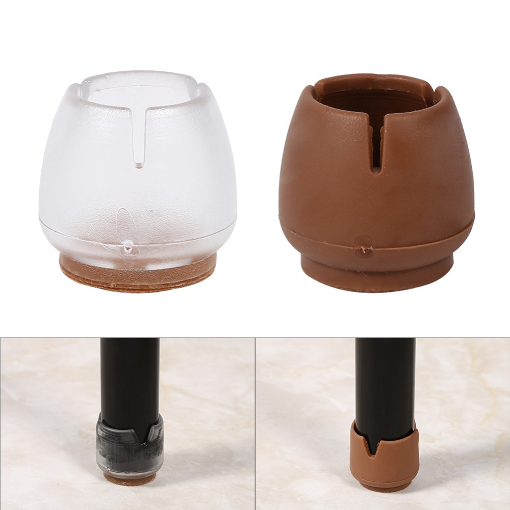 4pcs/set Chair Leg Protector Round Table Leg Cap Cover Furniture Rubber Floor Feet Chair mat Transparent Coffe Floor Protector4pcs/set Chair Leg Protector Round Table Leg Cap Cover Furniture Rubber Floor Feet Chair mat Transparent Coffe Floor Protector