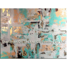 King Size Pure Hand-painted High Quality Abstract Oil Painting on Canvas Handmade Modern Abstract Oil Painting Green Pictures