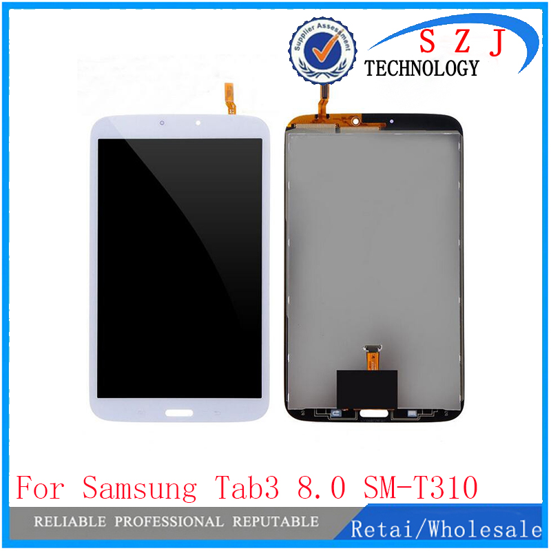 New 8'' inch tablet pc case For Samsung Galaxy Tab3 8.0 SM-T310 LCD Display and Touch Screen Digitizer Assembly Free Shipping brand new 30pcs wholesale price for samsung galaxy s7 edge g935 g9350 g935f g935fd lcd display touch screen free dhl 3 color