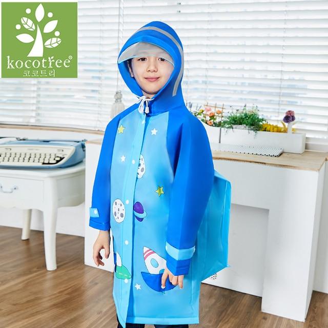 Cute Cartoon Outdoor Children Boys Girls Rain Coat Kids Rain Ponchot Jacket Waterproof Rain Coat Suit Children Raincoat