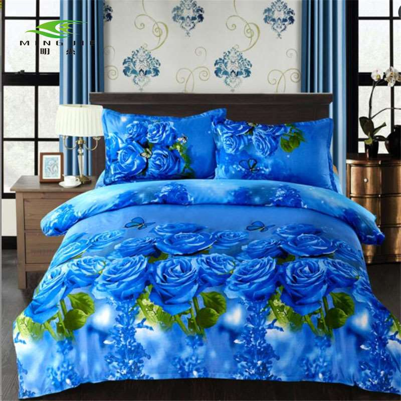 2017 New Style Flower 3d Bedding Sets Quilted Bed Spread