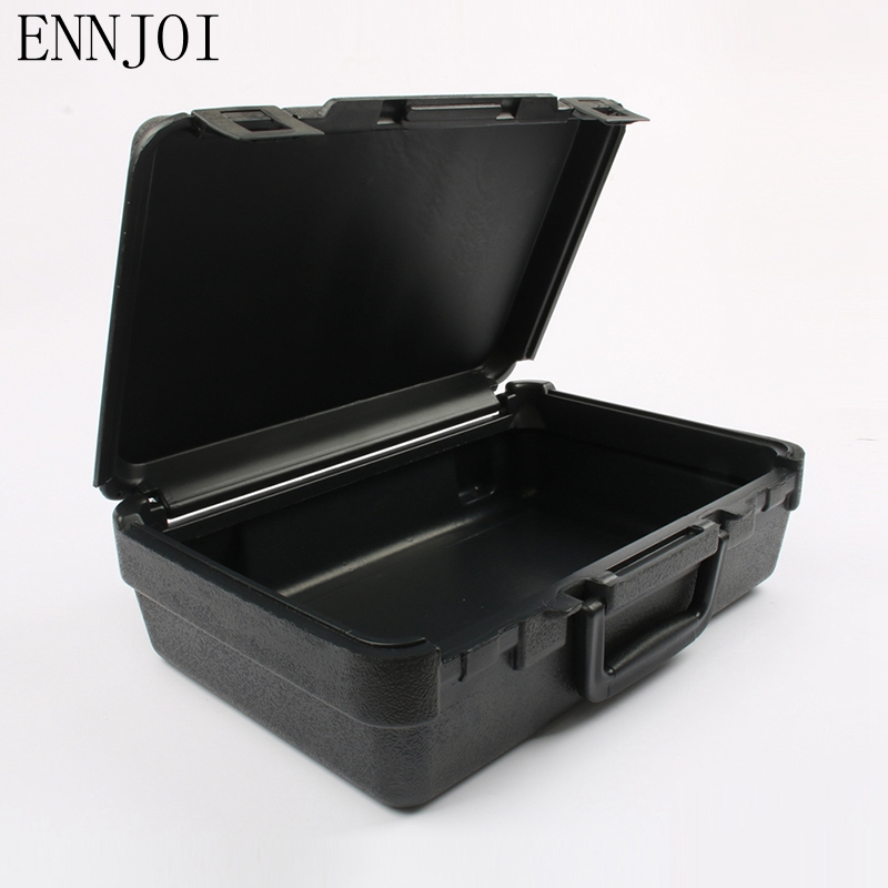 ENNJOI High Qaulity Hardware Tool Packing Suitcase Instrument And Meter Equipment Big Black Box Plastic Box