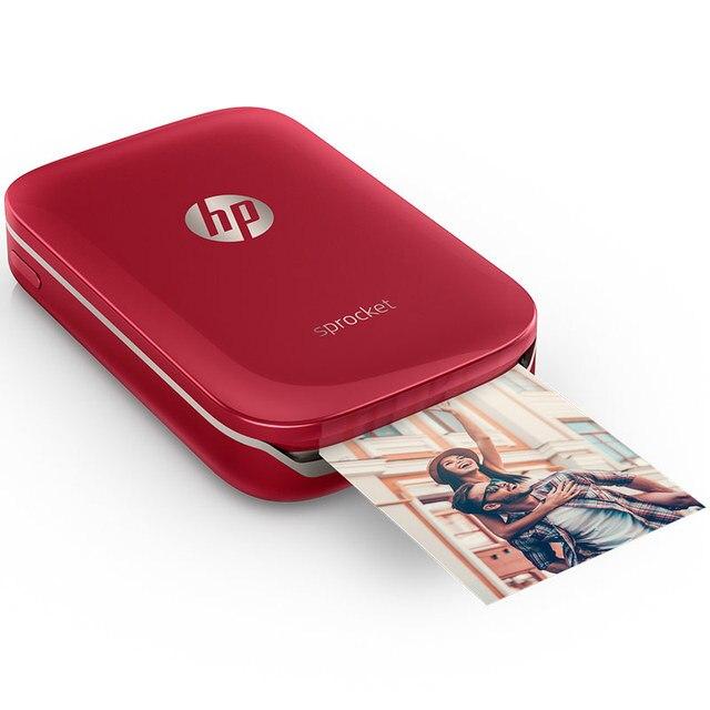 미니 포켓 포토 프린터 휴대 전화 HP 소형 인쇄 스프로킷 모바일 블루투스 휴대용 포켓 포토 프린터 홈 미니 사진