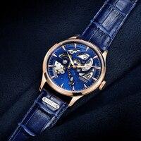 Men Automatic Mechanical Watch Binger Luxury Brand Mens Watches Sapphire Clocks Waterproof Relogio Masculino Switzerland