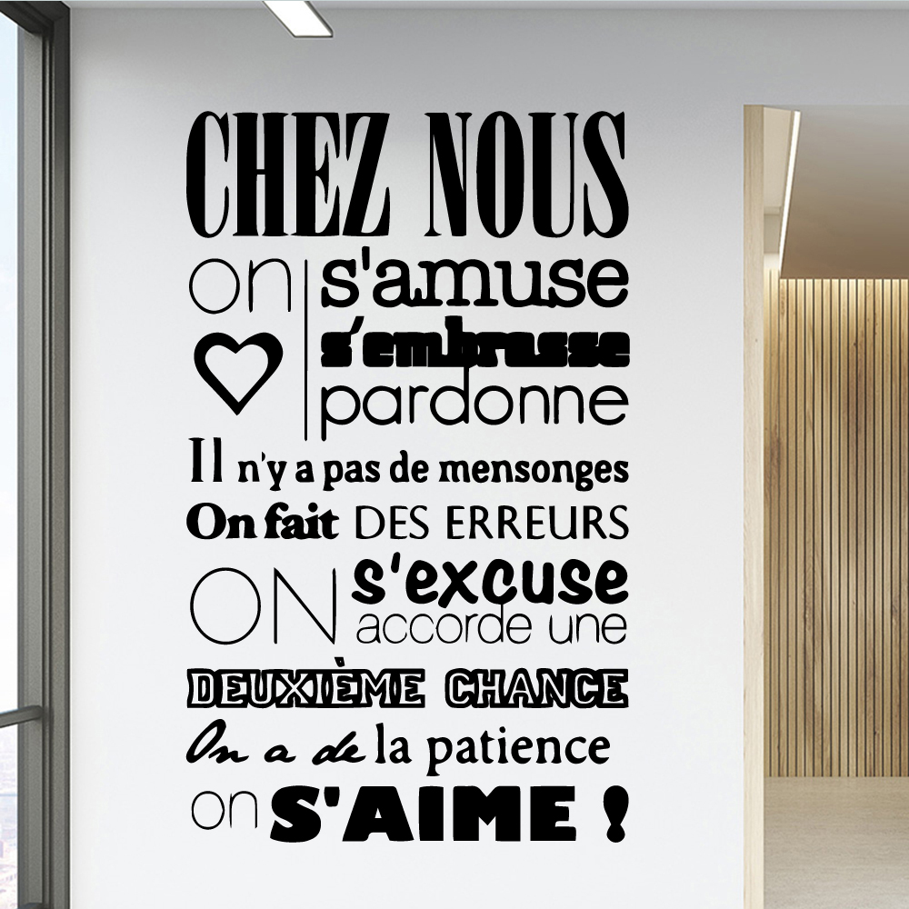 Lovely french quotes House Decor Self Adhesive Vinyl Waterproof Wall Decal For Children Room Wallpaper Home Party Decoration
