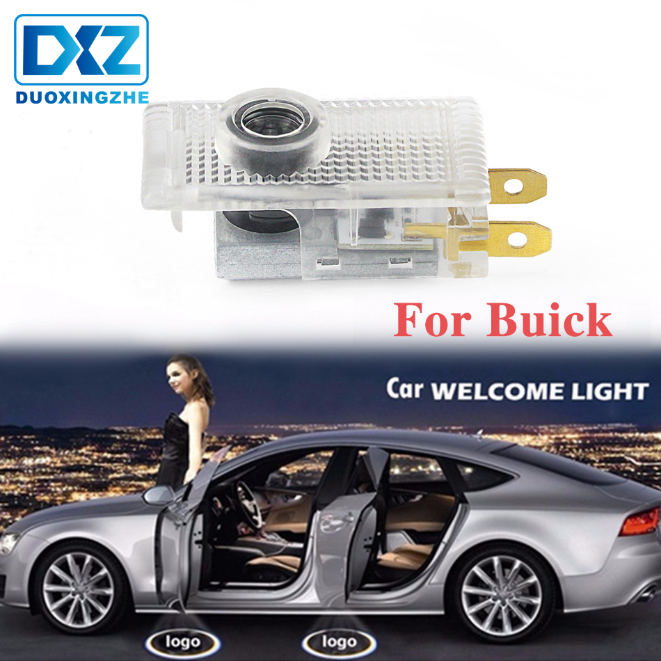 DXZ 2Pcs Car Logo Door Welcome Light LED Projector Laser For for Buick Regal 2009-2015 car door light projector
