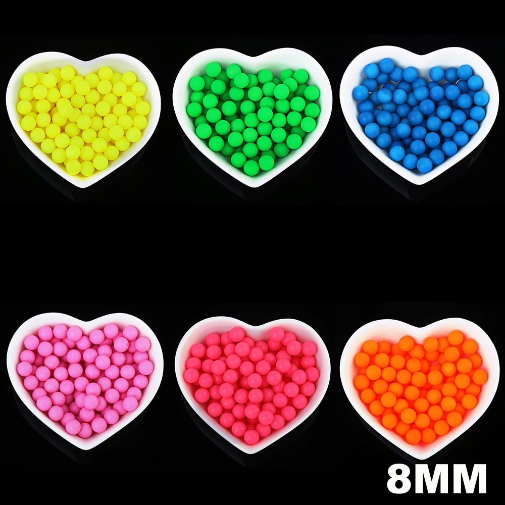 100 шт. 8 мм Высокое качество флуоресцентный Цвет DIY Jewelry аксессуары Свободные Бисер игрушки аксессуары круглый акрил без отверстие конфеты бусинами