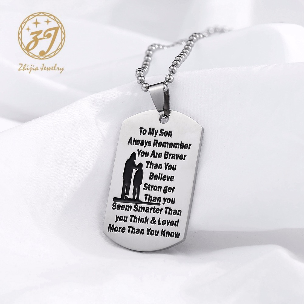 Mermaid Pattern Jewelry Military Pendant Brand Necklace Metal Dog Tag