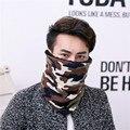 Nueva Otoño Invierno Hombre Camuflaje Bufanda de Moda La Promoción de Venta Caliente Bufandas Bufanda Del Silenciador Del Espesamiento Proteja Cuello de La Cara Caliente