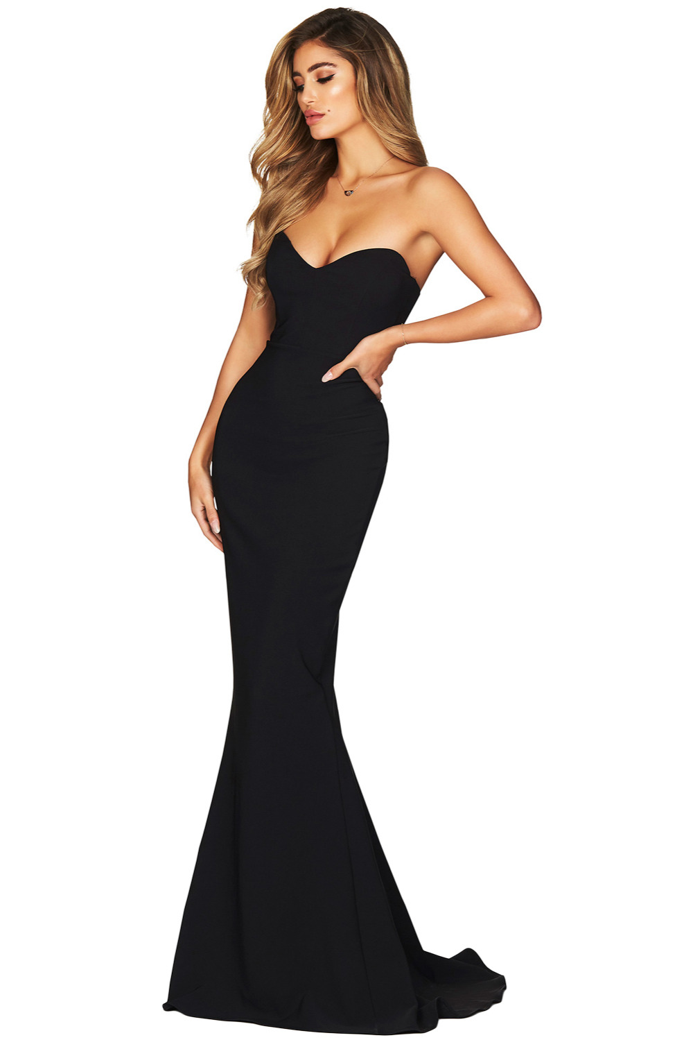 3dbc709a0cdb 2018 New Arrival Summer Women's Fashion Black Strapless Sweetheart Neckline  Mermaid Gown LGY610868-in Dresses from Women's Clothing on Aliexpress.com  ...