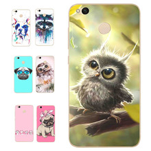 MLCRIYG Soft Phone Case For Xiaomi Redmi 4X TPU Silicon Cute Dog Owl Animal Pattern Cases Cover Painted Design Case Fundas B112