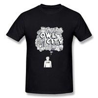 2017 gorące Lato śmieszne fajne Mody Drukowane SANMU Hipster Topy męskie T Shirt męska Sowa Miasta Adam Młodych Doodle Koszulka