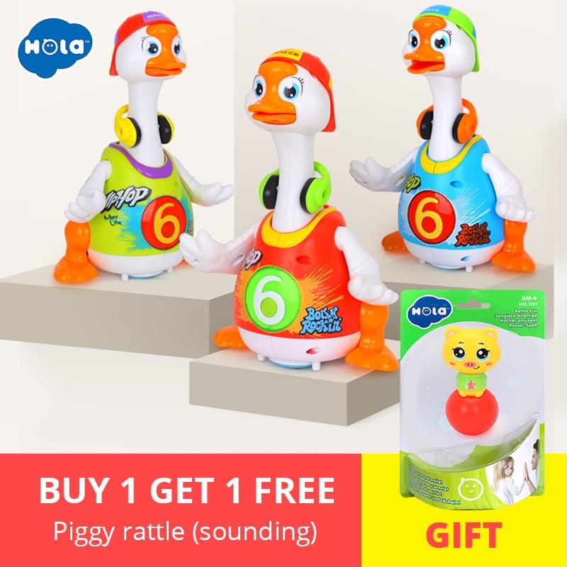 HOLA 828 jouets pour bébés Électrique Hip Pop De Danse Lire et Raconter L'histoire et Interactif Swing Goose Enfants D'apprentissage jouets éducatifs Cadeaux