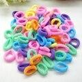 200 Pcs Coloridos de Borracha de Goma de Banda Para O Cabelo Do Bebê meninas Hairbands Criança Crianças Elástico de Cabelo Titulares Scrunchy Cabelo Ornamento