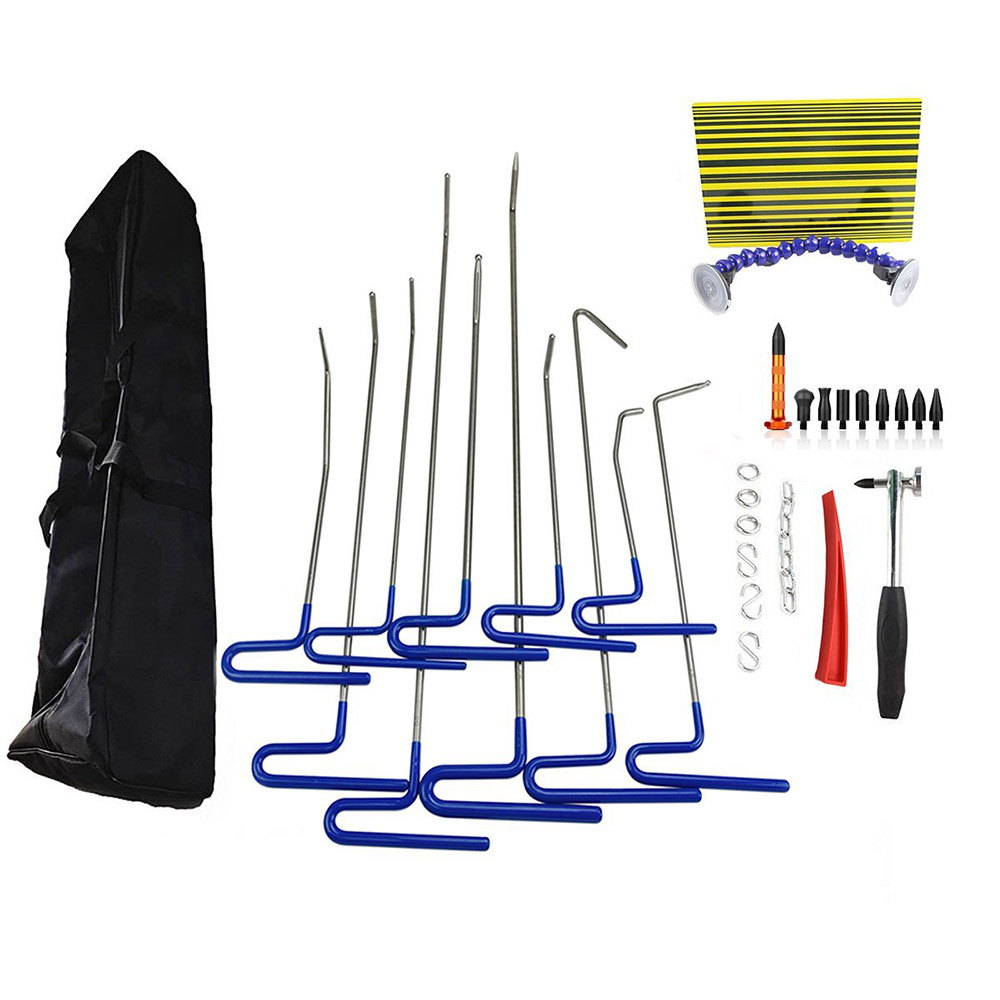 PDR Rod Dent Repair Tool Furuix 22pcs PDR Tool Package Paintless Hail Removal Dent Puller Tap Down Car Dent Repair Rod Hook tool pdr hook tool set pack of 2pc a5a6