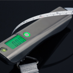 Image 2 - BECBI 50kg/110Lbs Luggage Scale with Handy Bubble Level and Tape Measure For Traveler Electronic Balance Baggage Weight Scale