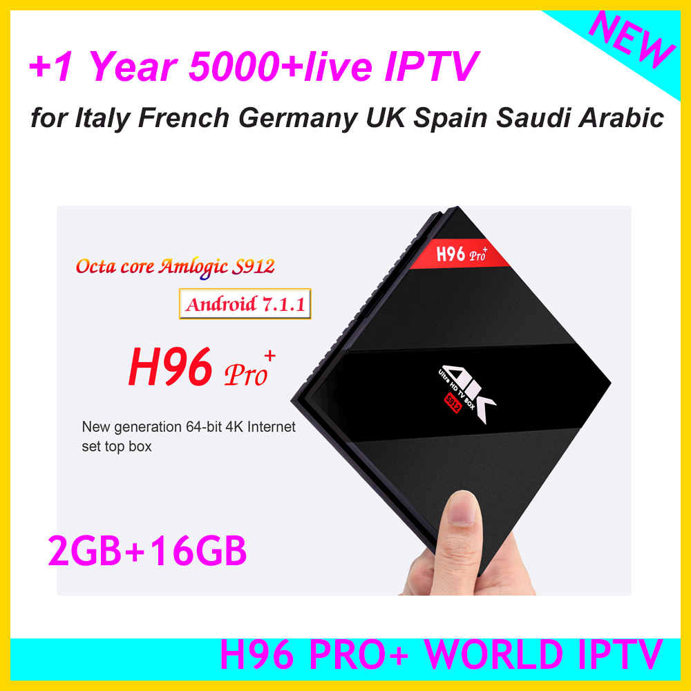 h96 Pro Android 7.1.1 Octa-core Tv Box 2g+16g With 1year Iptv For Italy Germany Uk Ex-yu Spain French Saudi Aribic Catalogues Will Be Sent Upon Request genuine Latest Collection Of