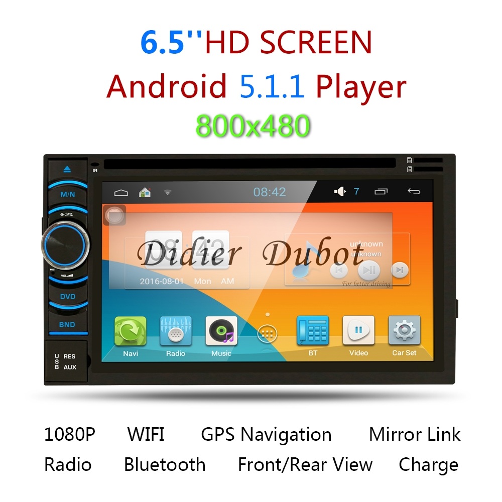 Android 5.1 Quad Core Car DVD Player Double(2) Din Car Radio Stereo Navi GPS with BT WIFI 3G Mirro Link for all cars