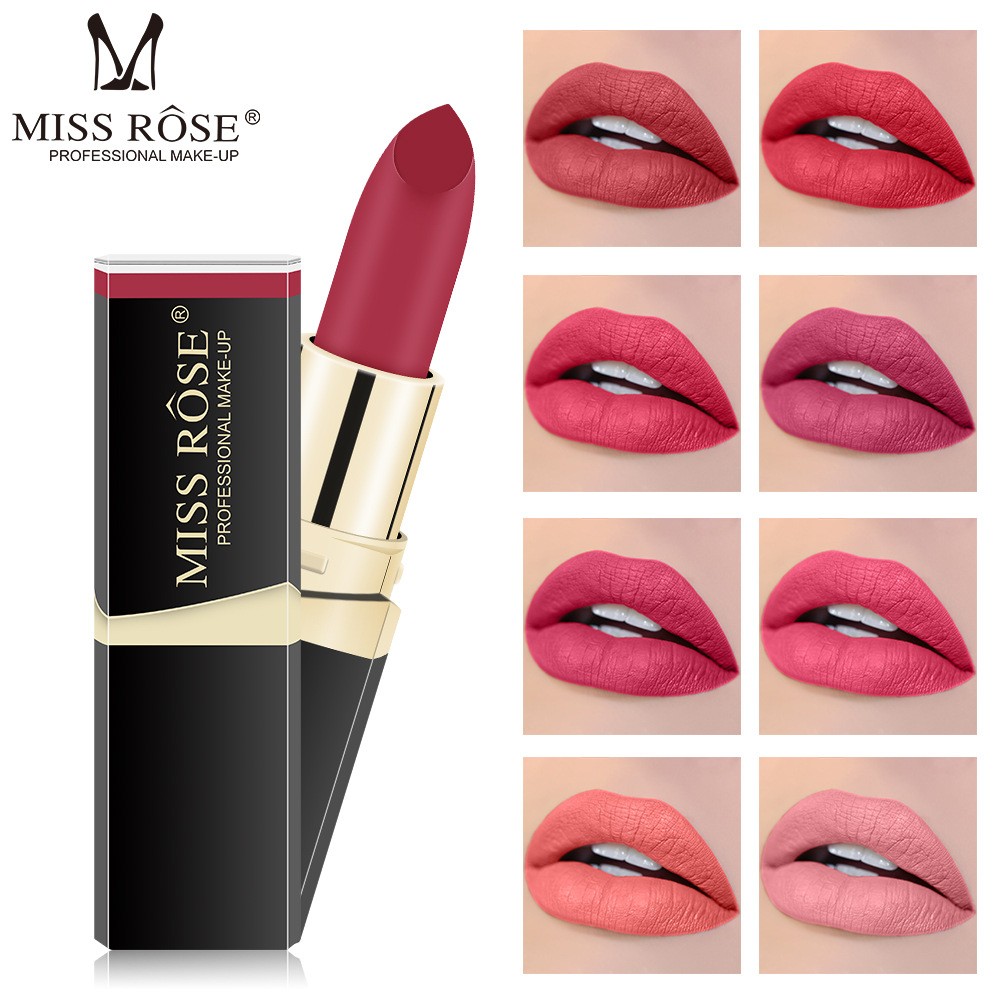 MISS ROSE 40 color Mist matte lipstick square tube dry lip gloss makeup
