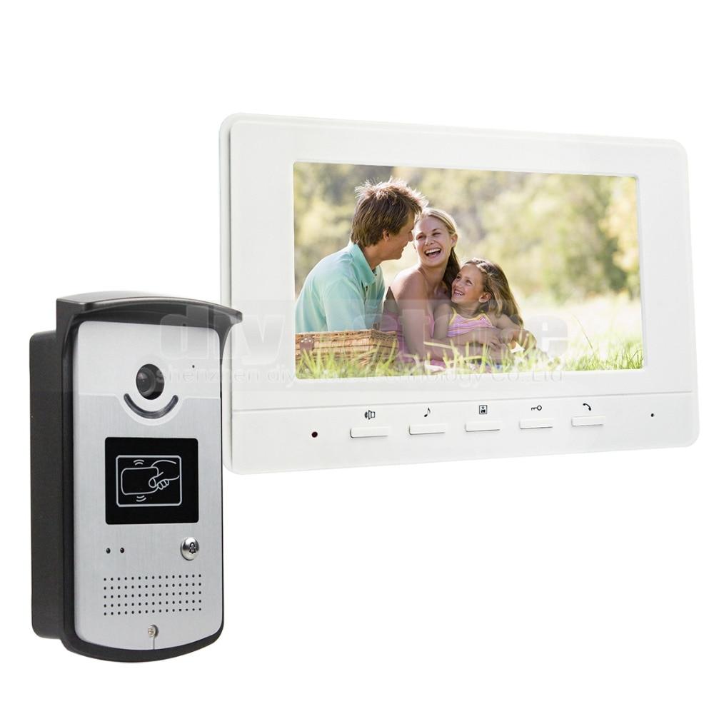 ᗗDIYSECUR 7 inch Wired Video Door Phone Doorbell Home Security ...