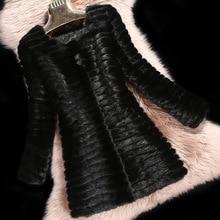 2016 Luxury Genuine Real Mink Fur Coat Jacket Autumn Winter Women Fur Outerwear Coats Lady Clothing 3XL 4XL VK1500