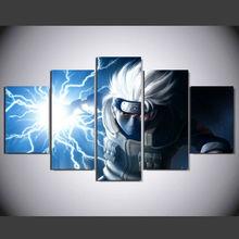 5 Panels Hatake Kakashi Printed Canvas