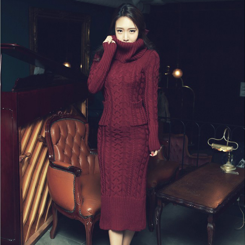 OHCLOTHING 19 European winter wool knitting female thickening noble temperament self-cultivation long bottom Sweaters 14