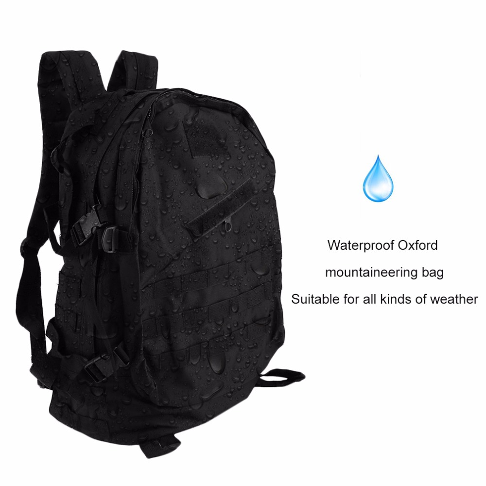 40L Man Woman Waterproof Oxford Fabric Outdoor Military Tactical Traveling Sports Backpack Hiking Camping Rucksack
