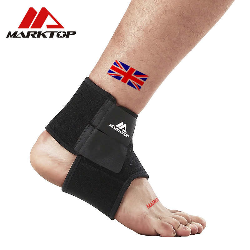 Marktop Ankle Support 1PC Safety Gym Running Protection Foot Bandage Guard Sport Fitness Elastic Ankle Brace Band 9005 in Ankle Support from Sports Entertainment