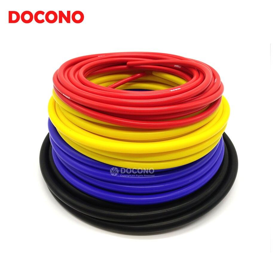 Универсальный силиконовый вакуумный шланг 3 мм/4 мм/6 мм/8 мм, силиконовые трубки, синие, черные, красные, желтые
