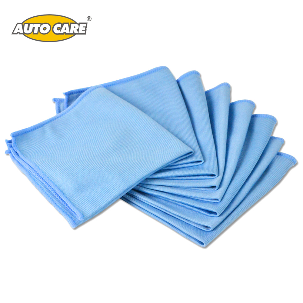 Auto Care 8-Pack Car Microfiber Glass Cleaning Towels Stainless Steel Polishing Shine Cloth Window Windshield Cloth 12