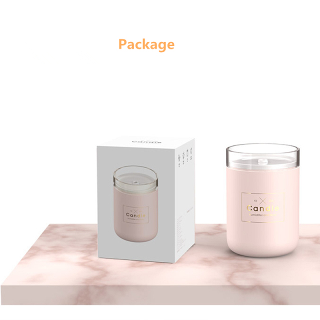 Ultrasonic Air Aroma Humidifier Candle Romantic Soft Light