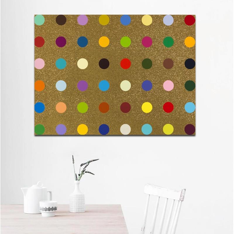 DAMIEN HIRST Canvas Piktura Dot Piktura të shtypura në Canvas - Dekor në shtëpi - Foto 5