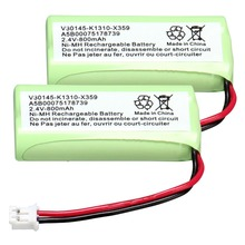 2 PACK home phone battery walkie talkie battery  2.4 V 800 mAh Home Phone Battery for simens C28/42/46/42H/36H/360/365/X359