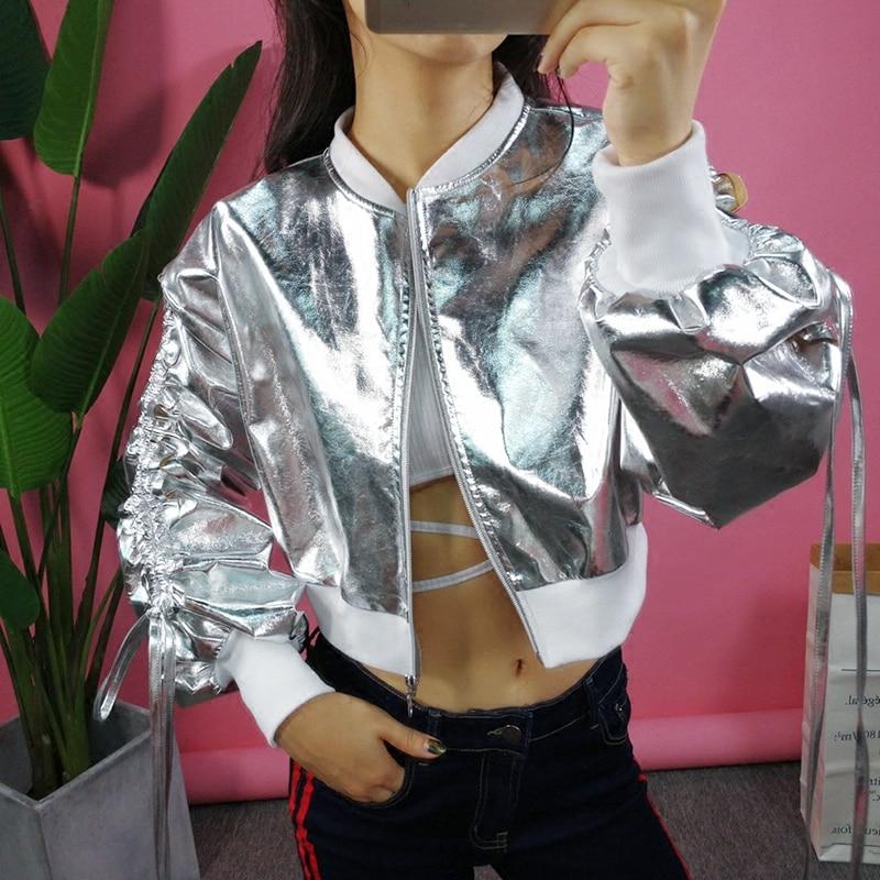 Tendance Cardigan Zipper Solide Nouvelle 2018 Femelle Casual Rue Polyester Casaco Argent Pleine Promotion Veste Inverno Denim Feminina PqO6AAC