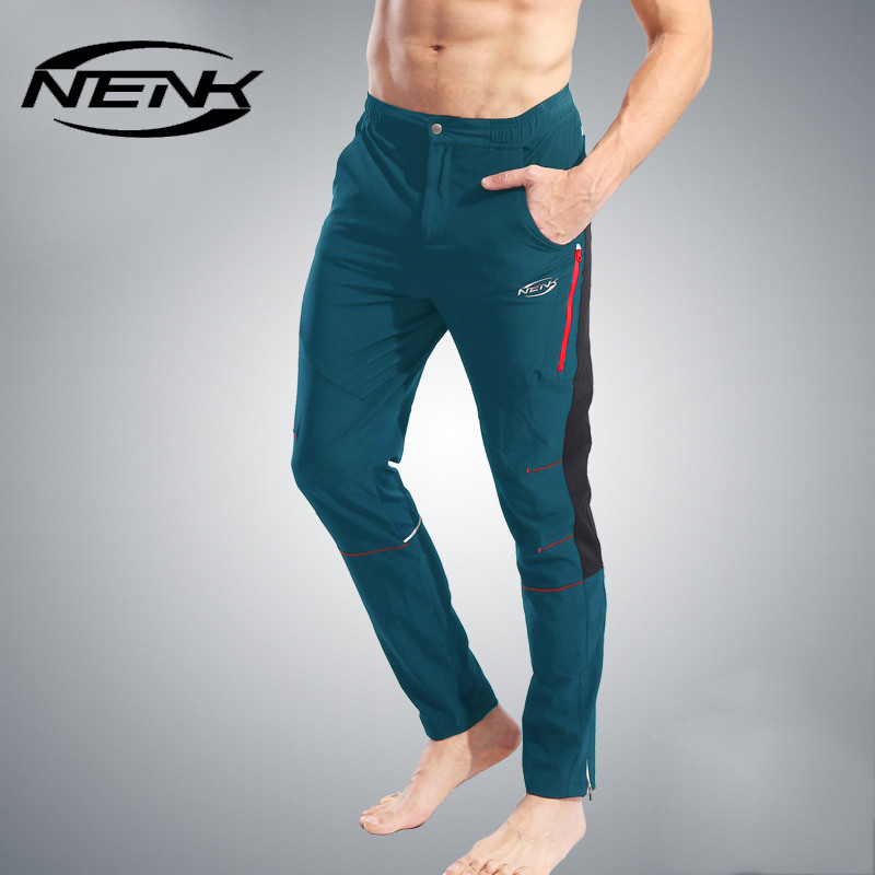 ФОТО NENK Men Sports Breathable Quick Dry Pants Cycling Riding Comfortable Trousers MTB Road Bike Bicycle Anti-Sweat Leisure Clothing