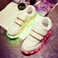 2017 Nueva 2.4 Estilos Niños Zapato de Carga USB LLEVÓ La Luz Soft Net Respiro Casual Boy Girl Antideslizante Luminosa Niños Inferiores shoes